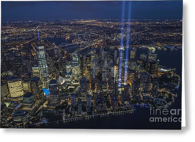 Never Forget-an Aerial Tribute Greeting Card