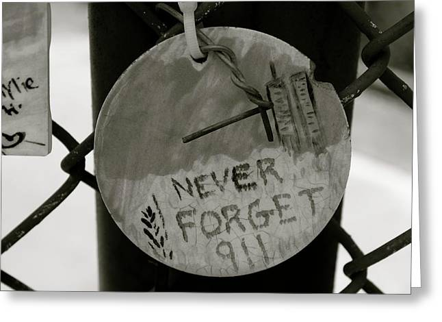Never Forget Greeting Card by Jerry Patterson