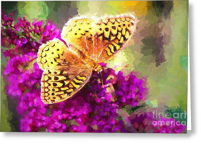 Never Hide Your Wings Greeting Card by Tina LeCour