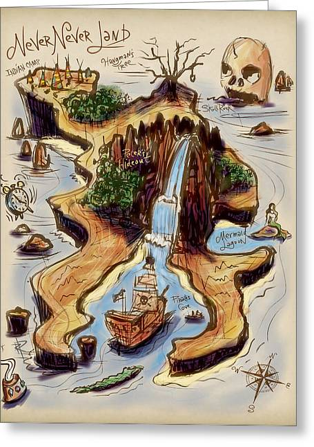 Never Never Land Greeting Card