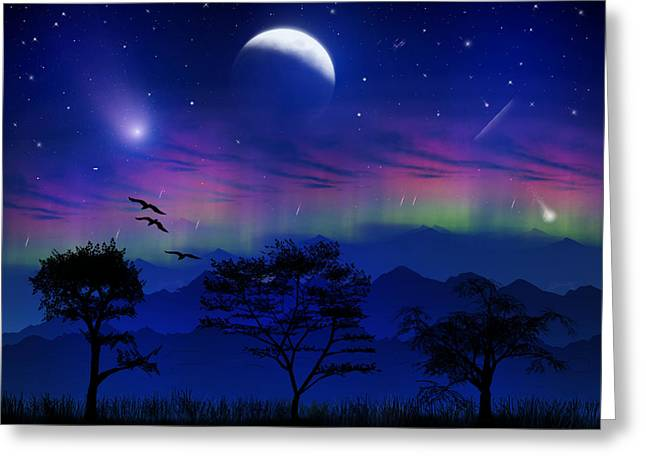 Greeting Card featuring the photograph Neverending Nights by Bernd Hau