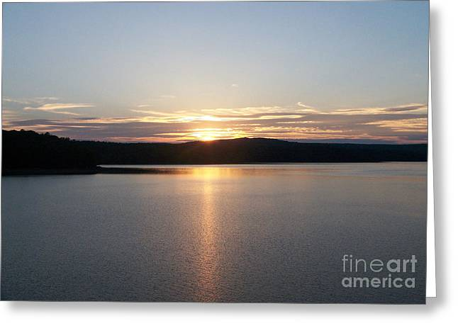 Neversink Reservoir At Sunset Greeting Card by Kevin Croitz