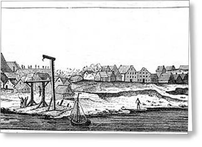 Engraving Greeting Cards - NEW AMSTERDAM, c1648 Greeting Card by Granger