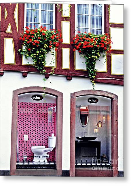 New And Old In Mainz     Greeting Card