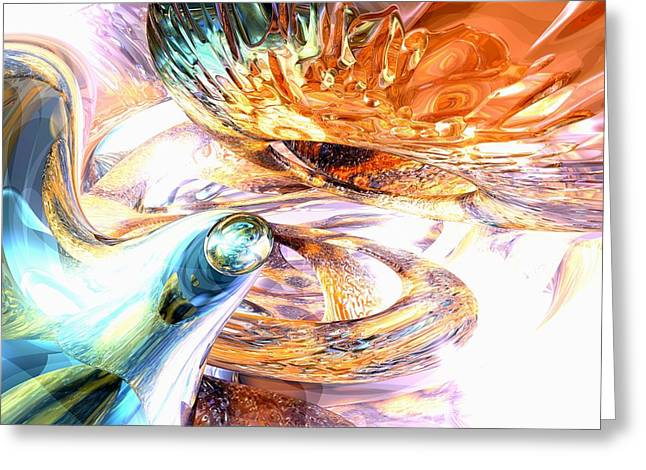 New Beginnings Abstract  Greeting Card by Alexander Butler