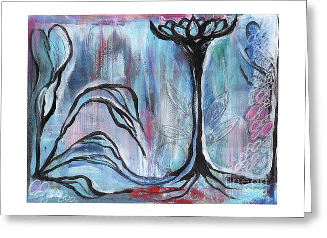 Greeting Card featuring the painting New Beginnings by Angela Armano