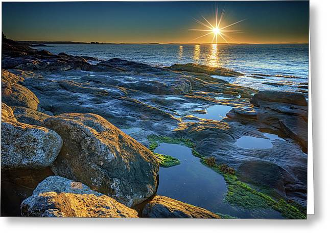 New Beginnings On Muscongus Bay Greeting Card by Rick Berk