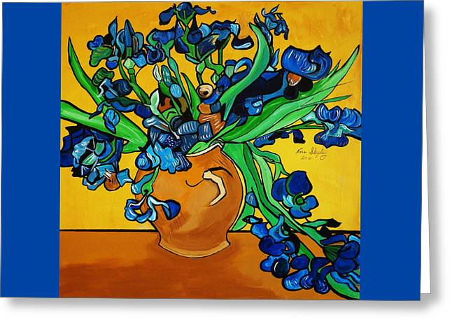 New Blue By You Greeting Card by Nora Shepley