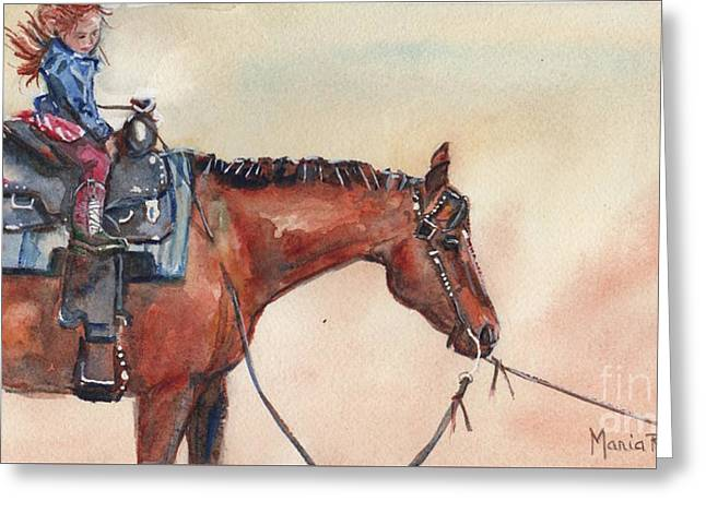New Boots  Greeting Card by Maria's Watercolor