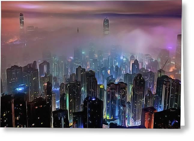 New City Skyline Greeting Card