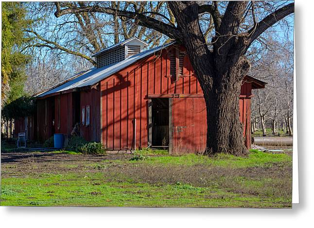 New Clairvaux Abbey Barn Greeting Card by Tikvah's Hope