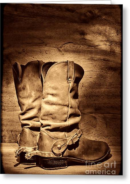 New Cowboy Boots Greeting Card