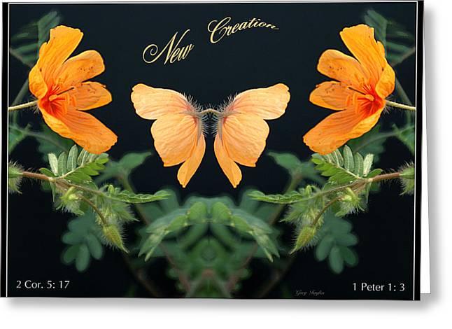 Born Again Digital Greeting Cards - New Creation Greeting Card by Greg Taylor