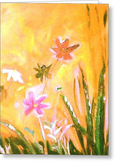 New Daisies Greeting Card by Winsome Gunning