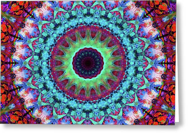 New Dawn Mandala Art - Sharon Cummings Greeting Card
