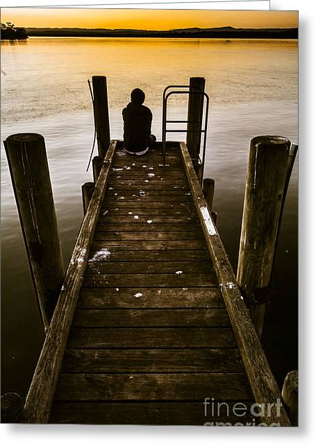 New Day A Piers Greeting Card by Jorgo Photography - Wall Art Gallery