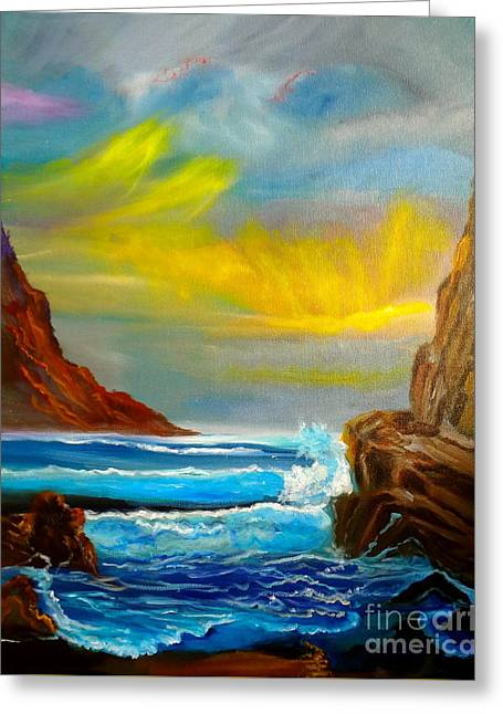 New Day In Paradise Greeting Card