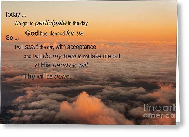 New Day Of Acceptance Greeting Card by MaryJane Armstrong