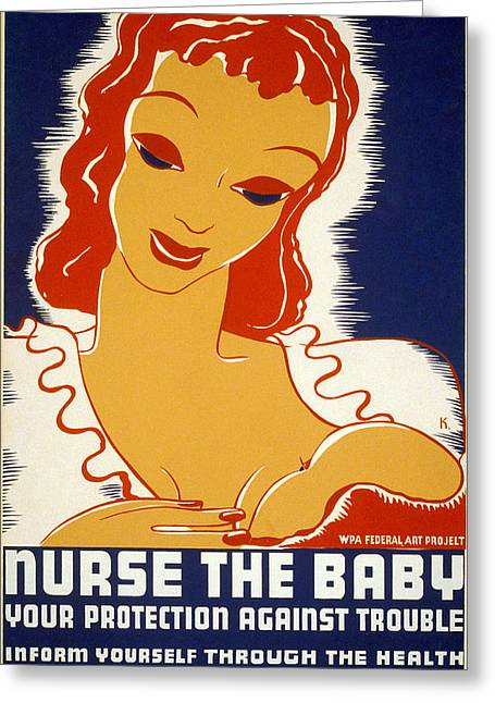 Silkscreen Greeting Cards - New Deal: Wpa Poster, 1936 Greeting Card by Granger
