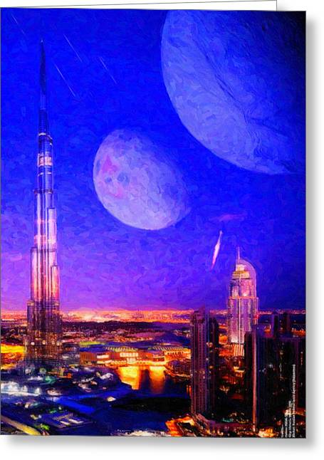 New Dubai On Tau Ceti E Greeting Card