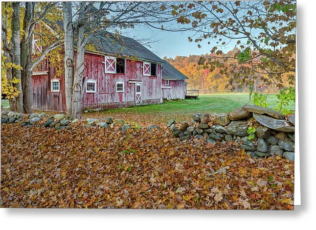 New England Barn 2016 Greeting Card by Bill Wakeley