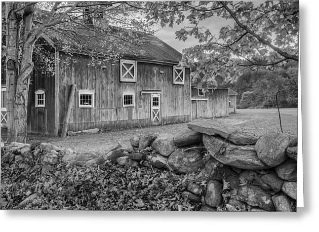 New England Barn 2016 Bw Greeting Card by Bill Wakeley