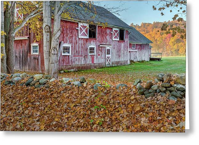 New England Barn 2016 Square Greeting Card by Bill Wakeley