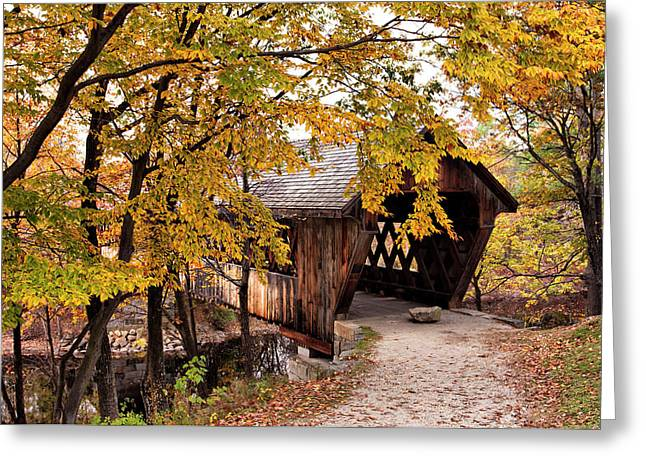 New England College No. 63 Covered Bridge  Greeting Card