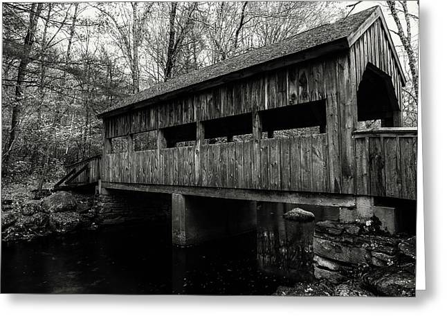 New England Covered Bridge Greeting Card