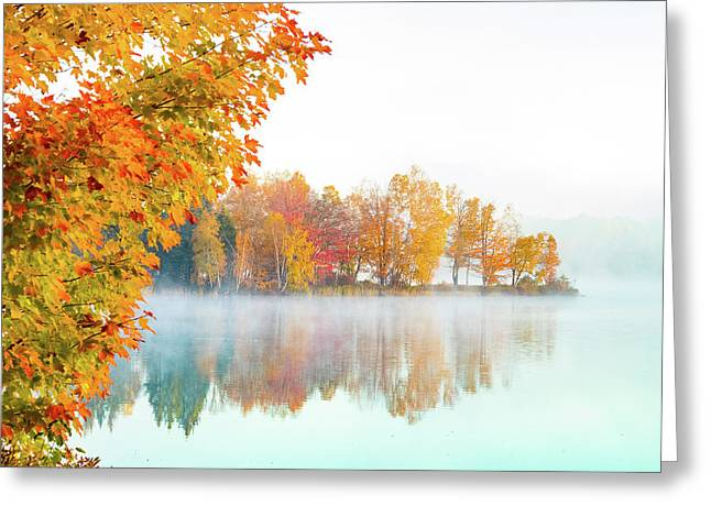 New England Fall Colors Of Maine Greeting Card
