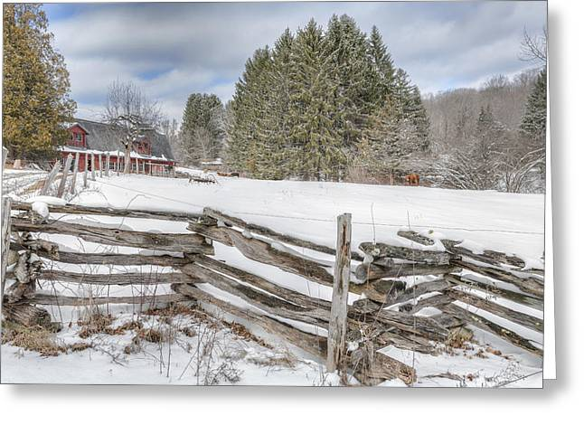 New England Farm Winter 2016 Greeting Card by Bill Wakeley