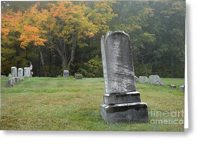 New England Graveyard During The Autumn  Greeting Card by Erin Paul Donovan