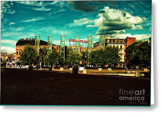 New England Holocaust Memorial, Boston, Massachusetts Greeting Card