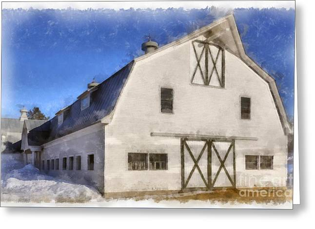 New England Horse Barn South Woodstock Vermont Greeting Card by Edward Fielding