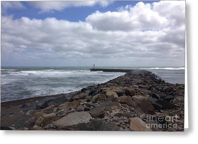 New England Jetty Greeting Card