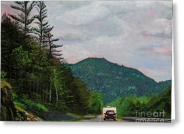 New England Journeys - Truck With Trailer Greeting Card by Marina McLain