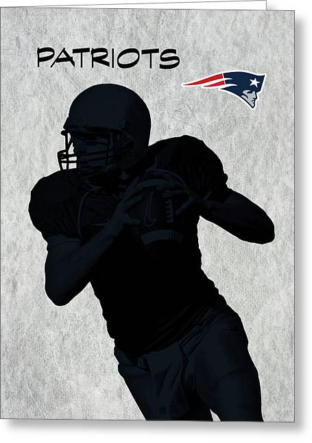 Greeting Card featuring the digital art New England Patriots Football by David Dehner