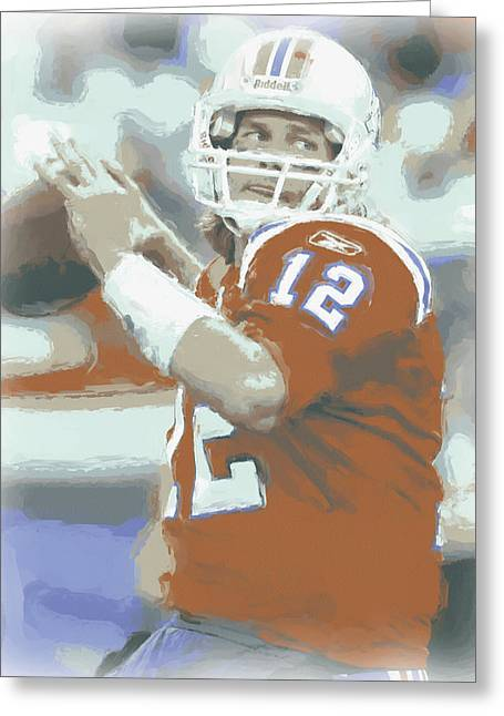 New England Patriots Tom Brady 2 Greeting Card
