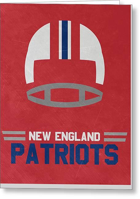 New England Patriots Vintage Art Greeting Card