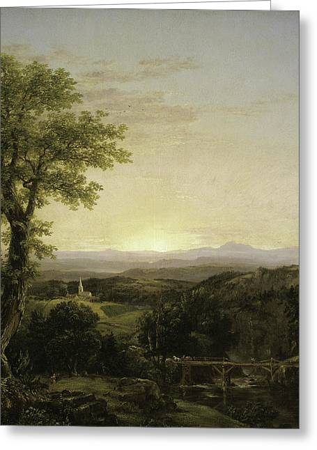 New England Scenery Greeting Card by Thomas Cole