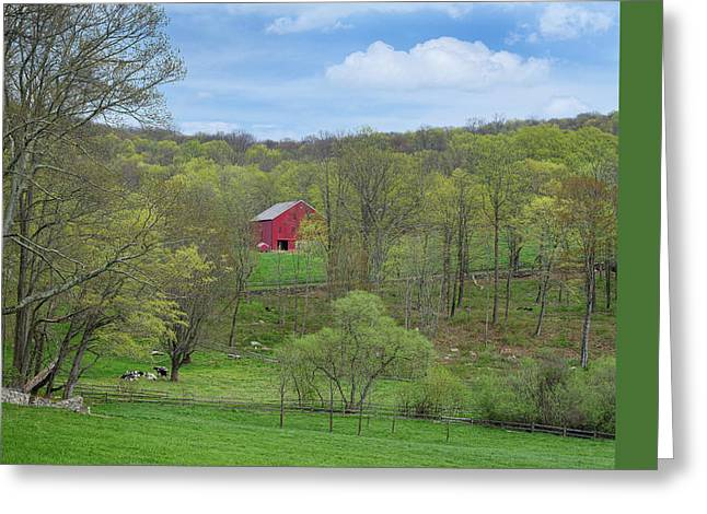 Greeting Card featuring the photograph New England Spring Pasture by Bill Wakeley