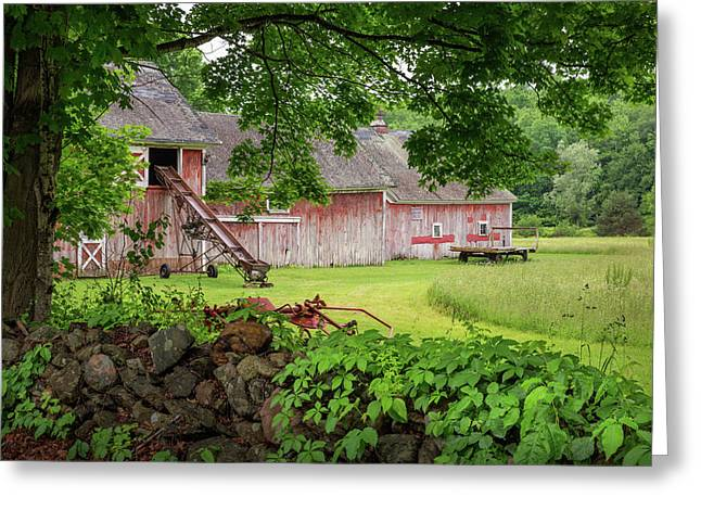 New England Summer Barn Greeting Card by Bill Wakeley