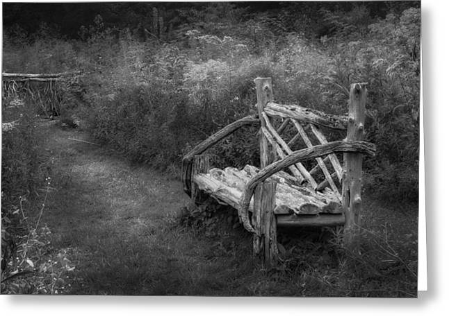 New England Summer Rustic Bw Greeting Card