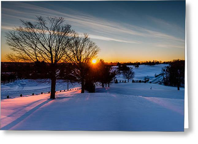 New England Sunrise Greeting Card