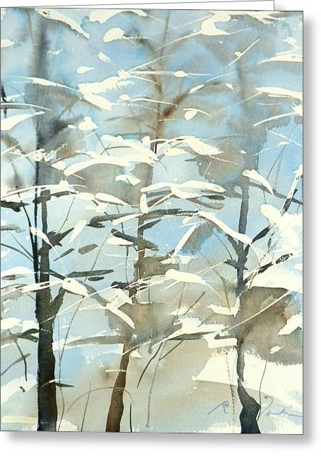 New England Winter Scape No.45 Greeting Card by Sumiyo Toribe