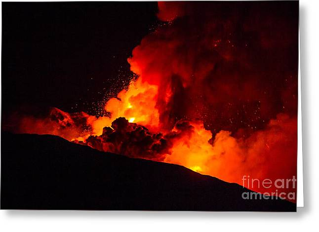 New Eruption Of Etna-2013 Greeting Card by Caio Caldas