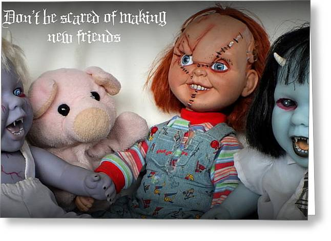 New Friends Greeting Card by Piggy
