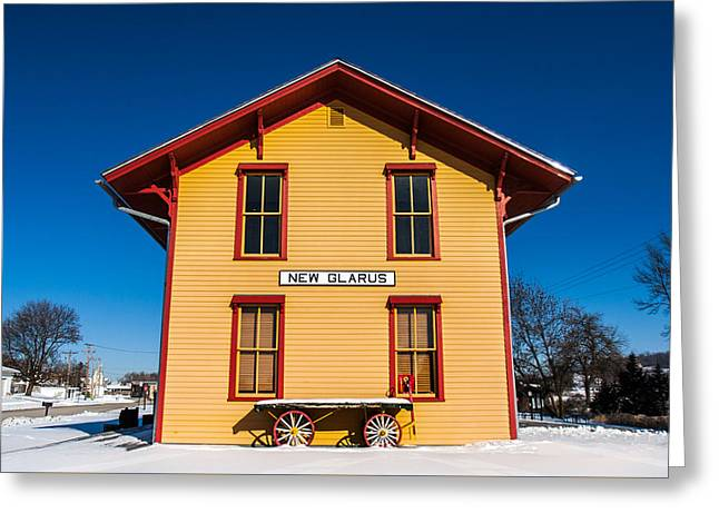 New Glarus Depot Greeting Card by Todd Klassy