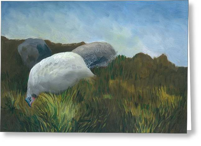 New Guinea Fowl Greeting Card