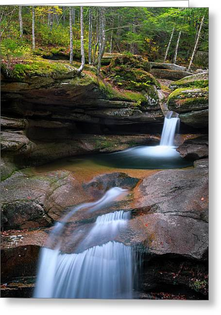 New Hampshire Sabbaday Falls Panorama Greeting Card
